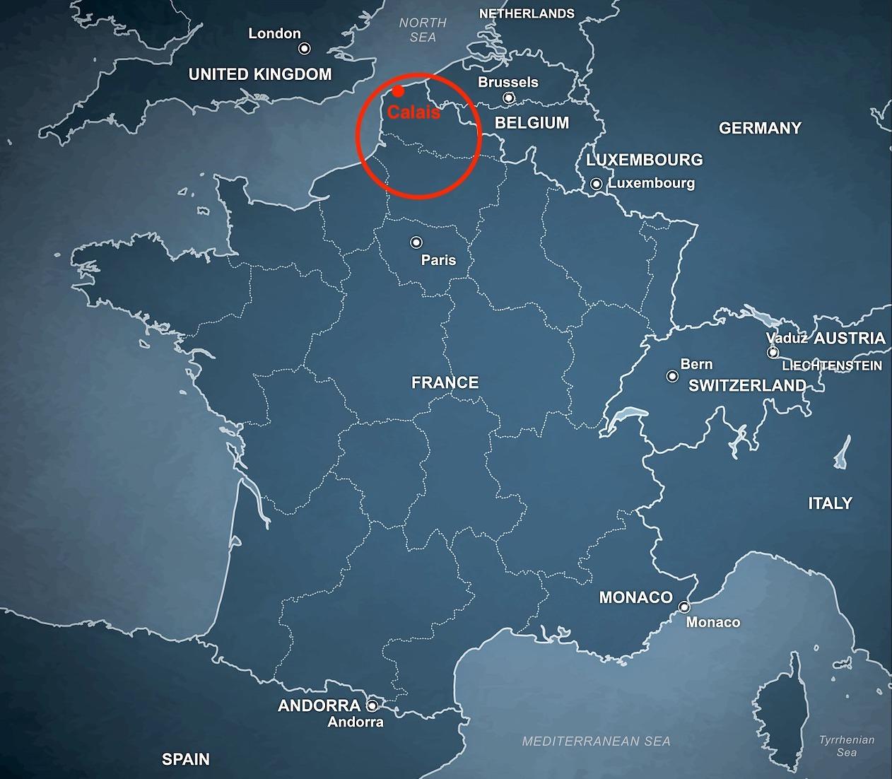 Calais and the greater area of Calais